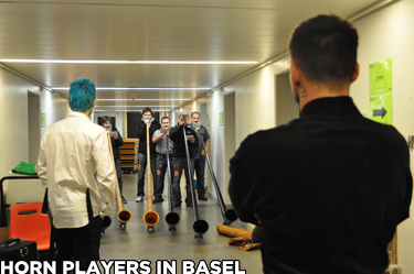 Horn players in Basel