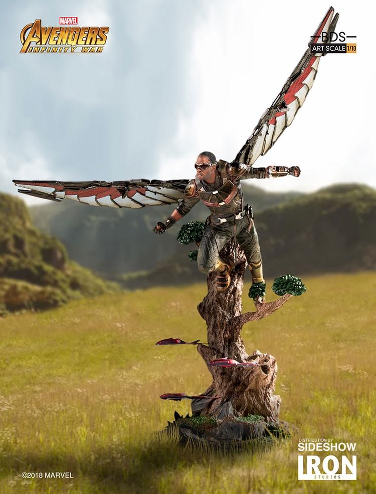 IRON STUDIOS: FALCON Infinity war art scale 1/10 Infinity-war-falcon-statue-iron-studios-01