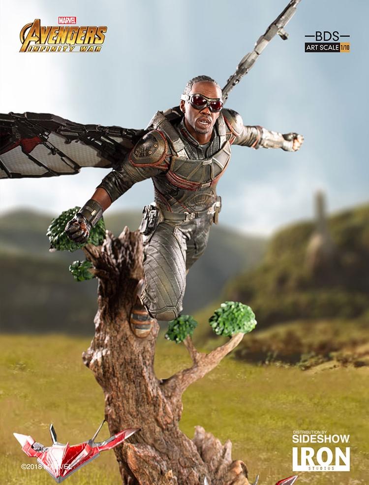 IRON STUDIOS: FALCON Infinity war art scale 1/10 Infinity-war-falcon-statue-iron-studios-02