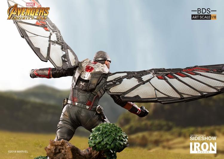 IRON STUDIOS: FALCON Infinity war art scale 1/10 Infinity-war-falcon-statue-iron-studios-03