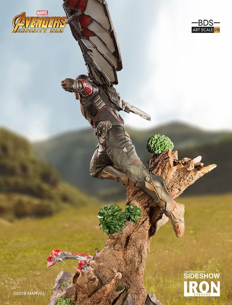 IRON STUDIOS: FALCON Infinity war art scale 1/10 Infinity-war-falcon-statue-iron-studios-05