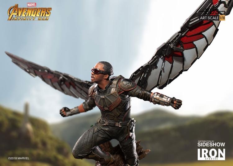 IRON STUDIOS: FALCON Infinity war art scale 1/10 Infinity-war-falcon-statue-iron-studios-06