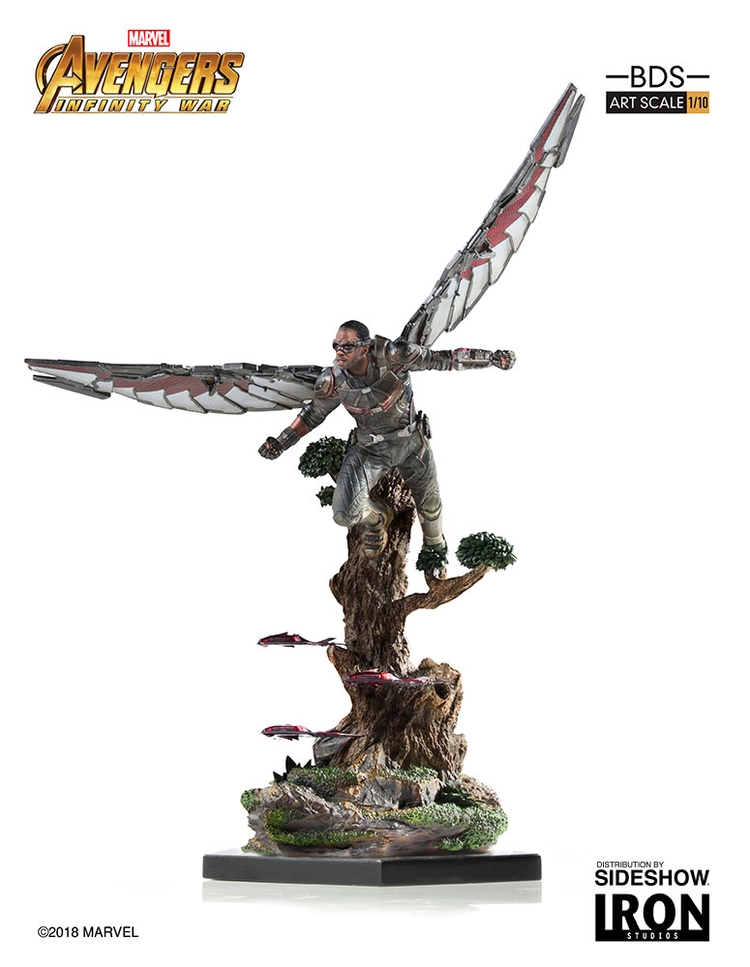 IRON STUDIOS: FALCON Infinity war art scale 1/10 Infinity-war-falcon-statue-iron-studios-07
