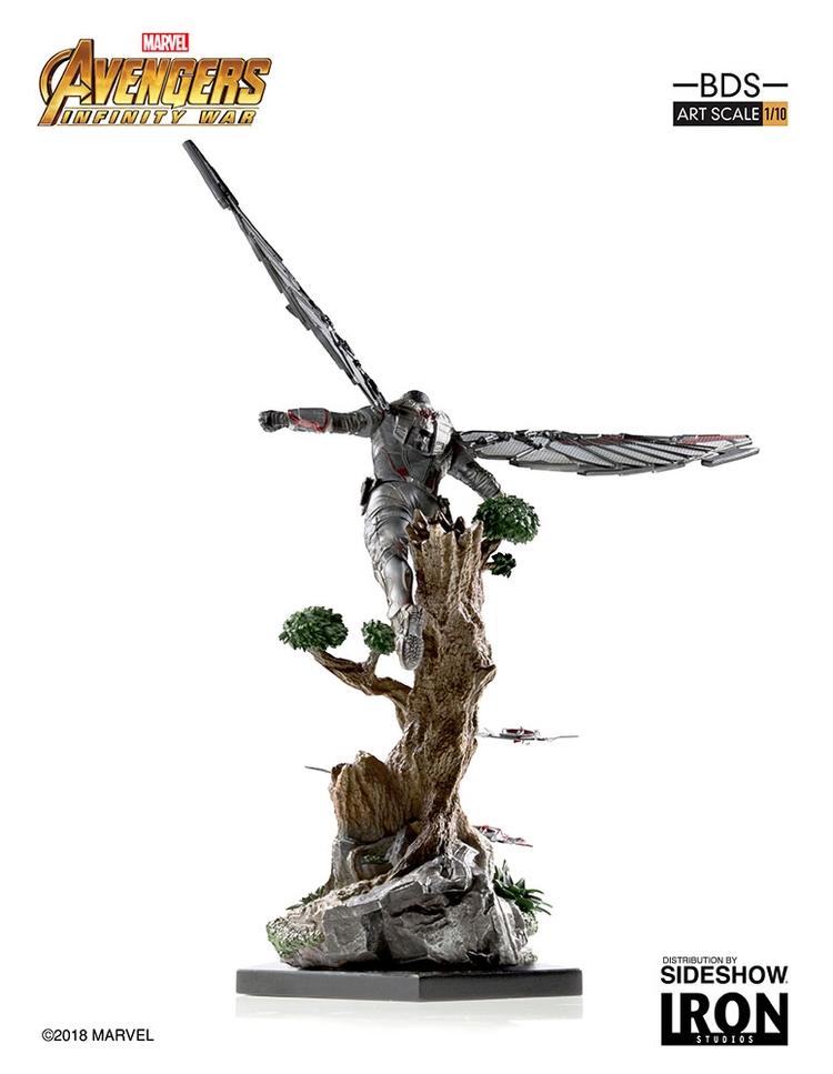 IRON STUDIOS: FALCON Infinity war art scale 1/10 Infinity-war-falcon-statue-iron-studios-08