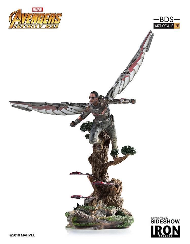 IRON STUDIOS: FALCON Infinity war art scale 1/10 Infinity-war-falcon-statue-iron-studios-09