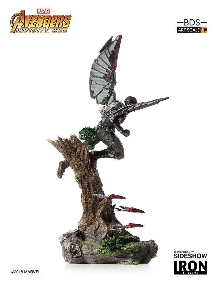 IRON STUDIOS: FALCON Infinity war art scale 1/10 Infinity-war-falcon-statue-iron-studios-10