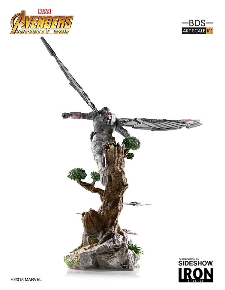 IRON STUDIOS: FALCON Infinity war art scale 1/10 Infinity-war-falcon-statue-iron-studios-11