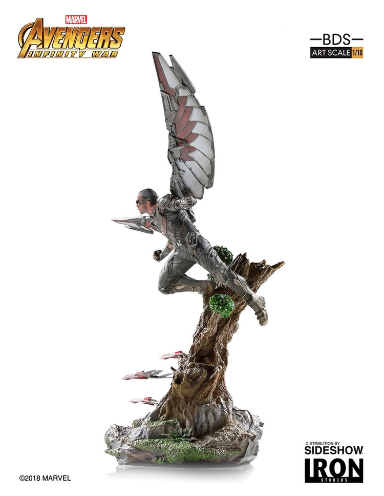 IRON STUDIOS: FALCON Infinity war art scale 1/10 Infinity-war-falcon-statue-iron-studios-12