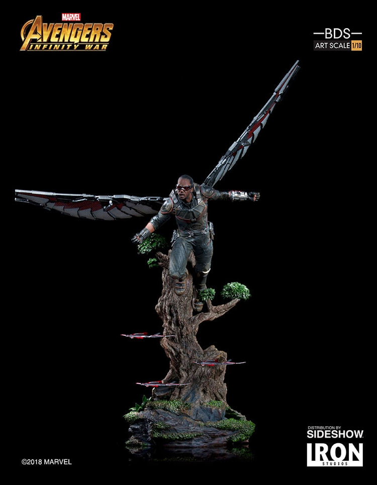 IRON STUDIOS: FALCON Infinity war art scale 1/10 Infinity-war-falcon-statue-iron-studios-13