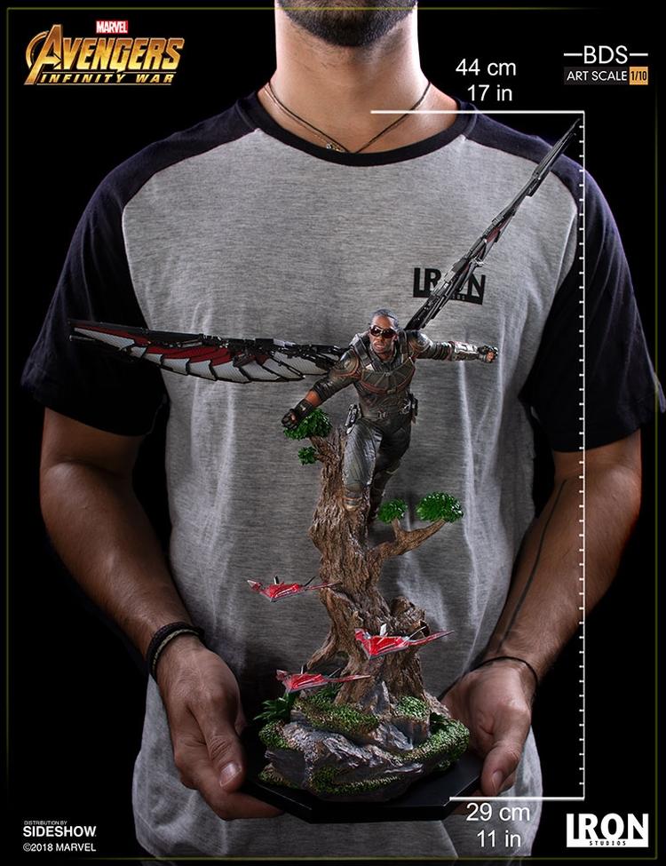 IRON STUDIOS: FALCON Infinity war art scale 1/10 Infinity-war-falcon-statue-iron-studios-14