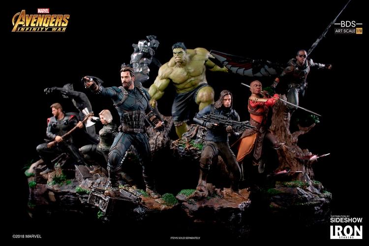 IRON STUDIOS: FALCON Infinity war art scale 1/10 Infinity-war-falcon-statue-iron-studios-15