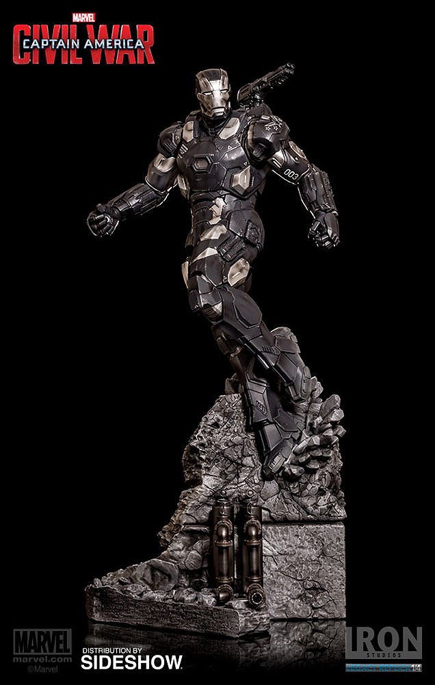 IRON STUDIOS: WAR MACHINE CIVIL WAR LEGACY 1/4 SCALE Civil-war-war-machine-polystone-statue-iron-studios-01