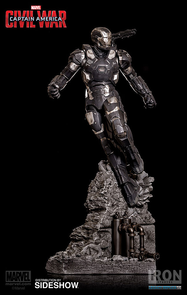 IRON STUDIOS: WAR MACHINE CIVIL WAR LEGACY 1/4 SCALE Civil-war-war-machine-polystone-statue-iron-studios-02