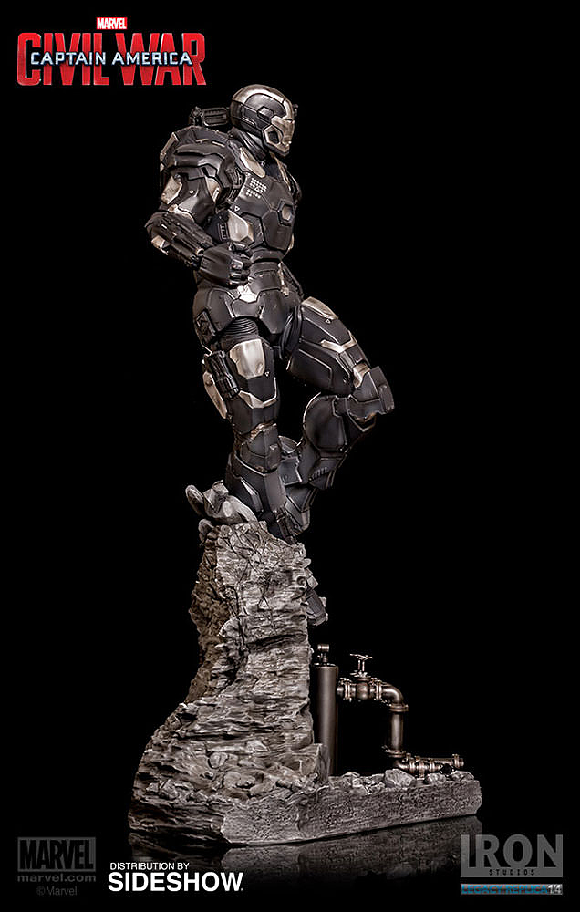 IRON STUDIOS: WAR MACHINE CIVIL WAR LEGACY 1/4 SCALE Civil-war-war-machine-polystone-statue-iron-studios-03