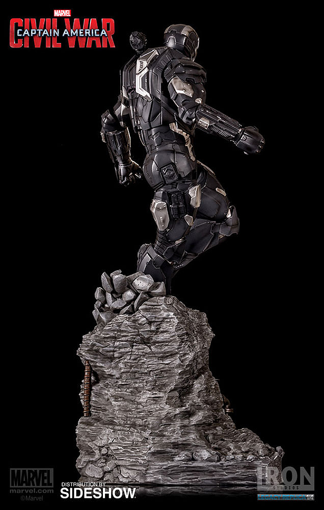 IRON STUDIOS: WAR MACHINE CIVIL WAR LEGACY 1/4 SCALE Civil-war-war-machine-polystone-statue-iron-studios-04