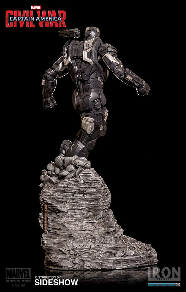 IRON STUDIOS: WAR MACHINE CIVIL WAR LEGACY 1/4 SCALE Civil-war-war-machine-polystone-statue-iron-studios-05