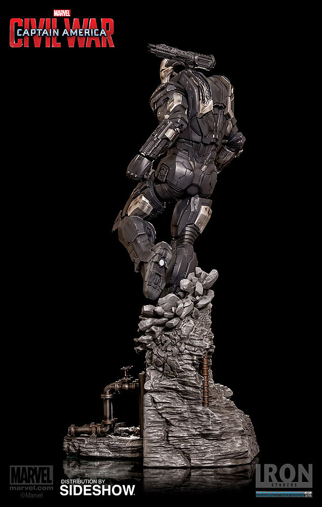 IRON STUDIOS: WAR MACHINE CIVIL WAR LEGACY 1/4 SCALE Civil-war-war-machine-polystone-statue-iron-studios-07
