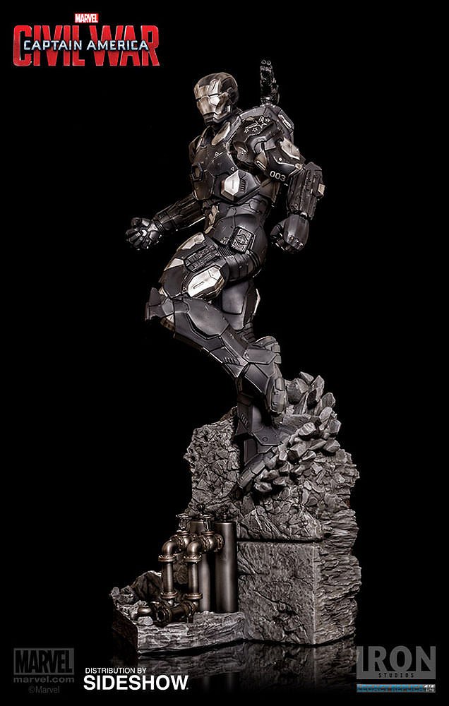IRON STUDIOS: WAR MACHINE CIVIL WAR LEGACY 1/4 SCALE Civil-war-war-machine-polystone-statue-iron-studios-08