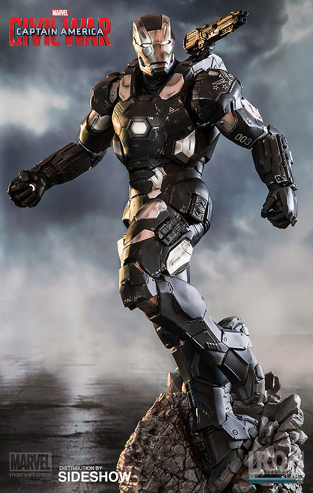 IRON STUDIOS: WAR MACHINE CIVIL WAR LEGACY 1/4 SCALE Civil-war-war-machine-polystone-statue-iron-studios-09