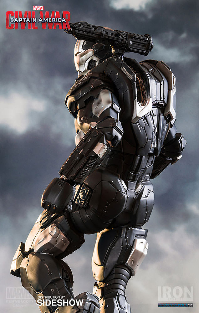 IRON STUDIOS: WAR MACHINE CIVIL WAR LEGACY 1/4 SCALE Civil-war-war-machine-polystone-statue-iron-studios-10