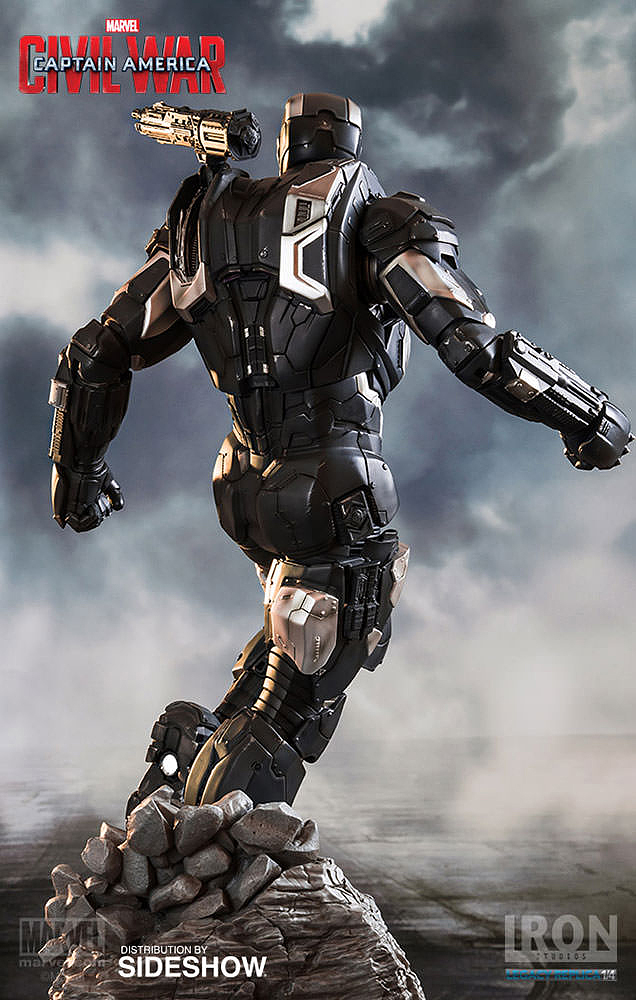 IRON STUDIOS: WAR MACHINE CIVIL WAR LEGACY 1/4 SCALE Civil-war-war-machine-polystone-statue-iron-studios-11