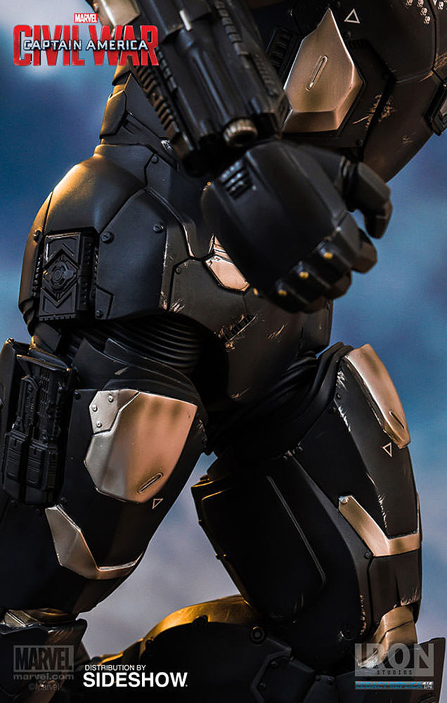 IRON STUDIOS: WAR MACHINE CIVIL WAR LEGACY 1/4 SCALE Civil-war-war-machine-polystone-statue-iron-studios-24