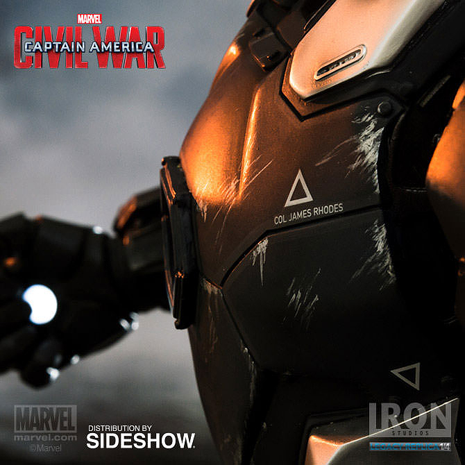 IRON STUDIOS: WAR MACHINE CIVIL WAR LEGACY 1/4 SCALE Civil-war-war-machine-polystone-statue-iron-studios-25