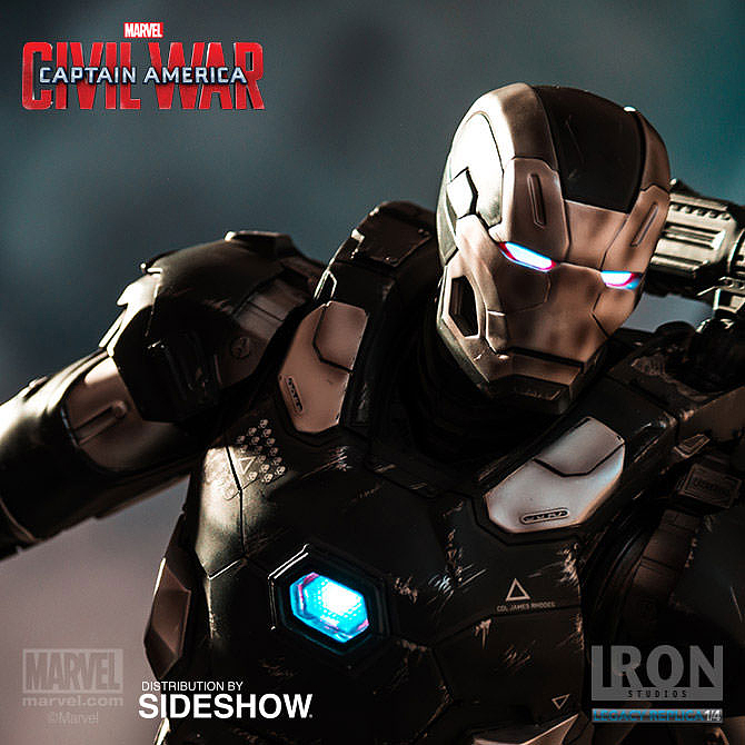 IRON STUDIOS: WAR MACHINE CIVIL WAR LEGACY 1/4 SCALE Civil-war-war-machine-polystone-statue-iron-studios-27