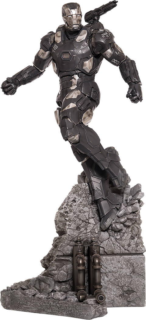 IRON STUDIOS: WAR MACHINE CIVIL WAR LEGACY 1/4 SCALE Marvel-captain-america-civil-war-war-machine-polystone-statue-iron-studios-silo-902831