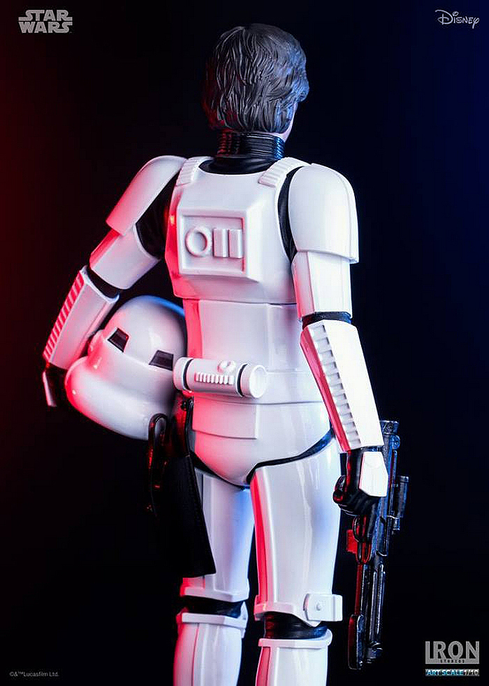 IRON STUDIOS: HAN SOLO IN STORMTROOPER DISGUISE art scale 1/10 HAN-SOLO-IRON-STUDIOS-04