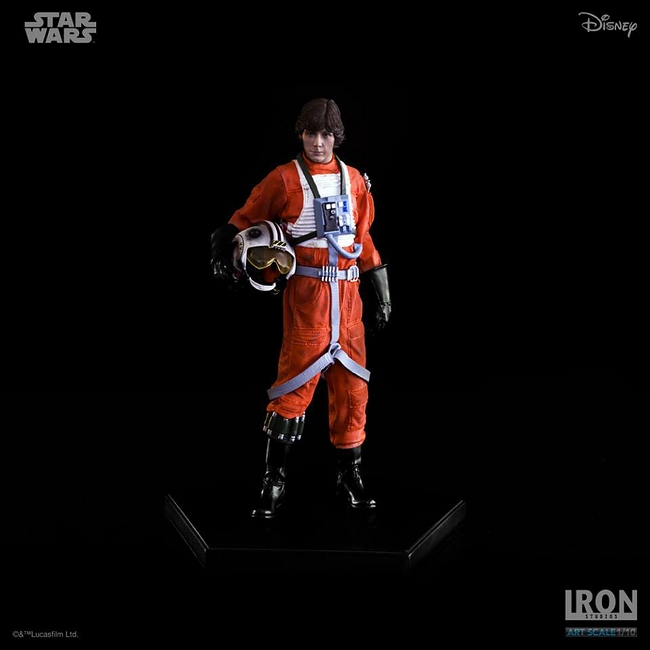 IRON STUDIOS: LUKE SKYWALKER X WING PILOT Art scale 1/10 Luke-skywalker-irob-studios-07