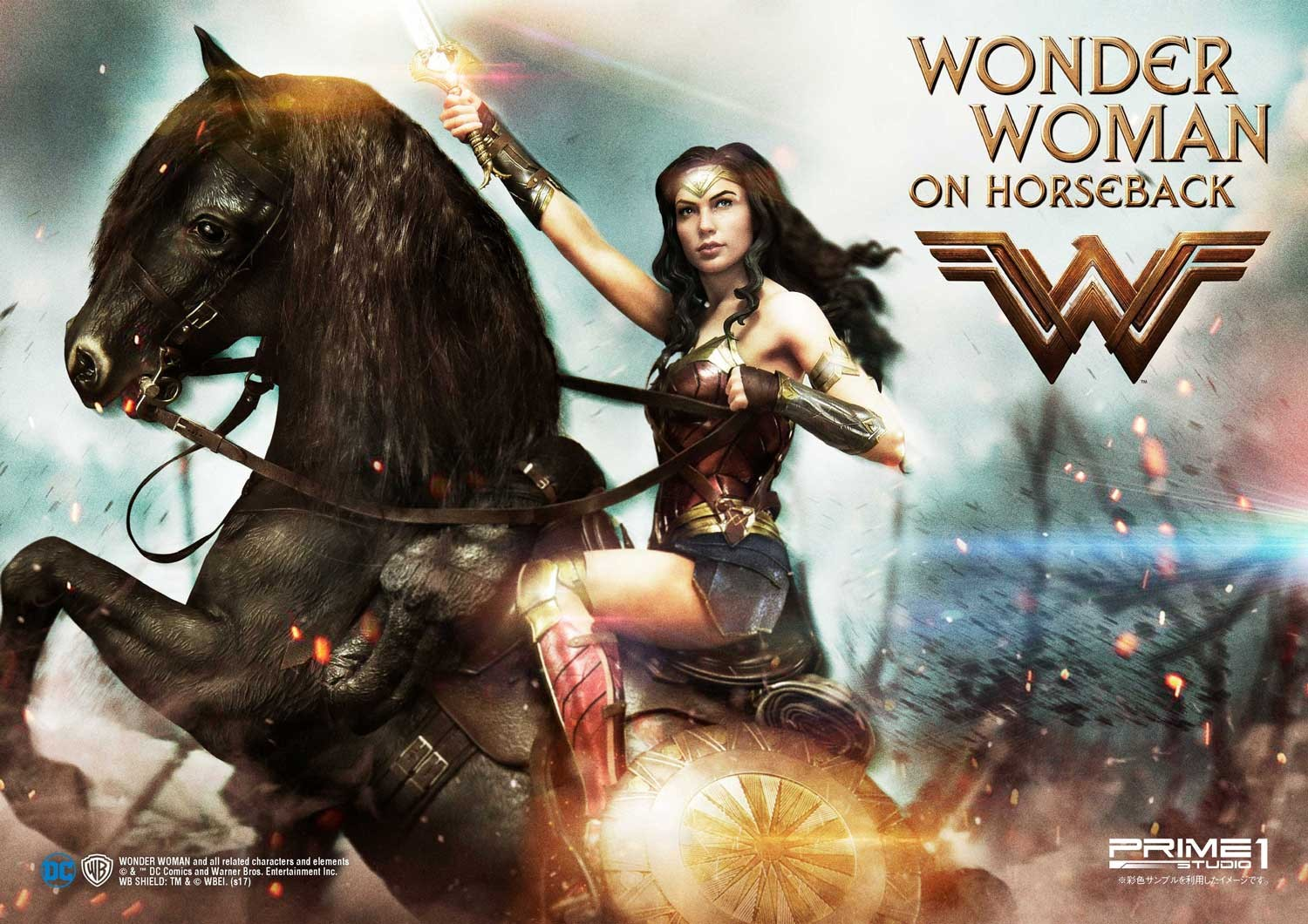 DC Comics - Wonder Woman Movie : Wonder Woman On Horseback 1/3 Scale Museum Masterline statue Mmww-02_a00
