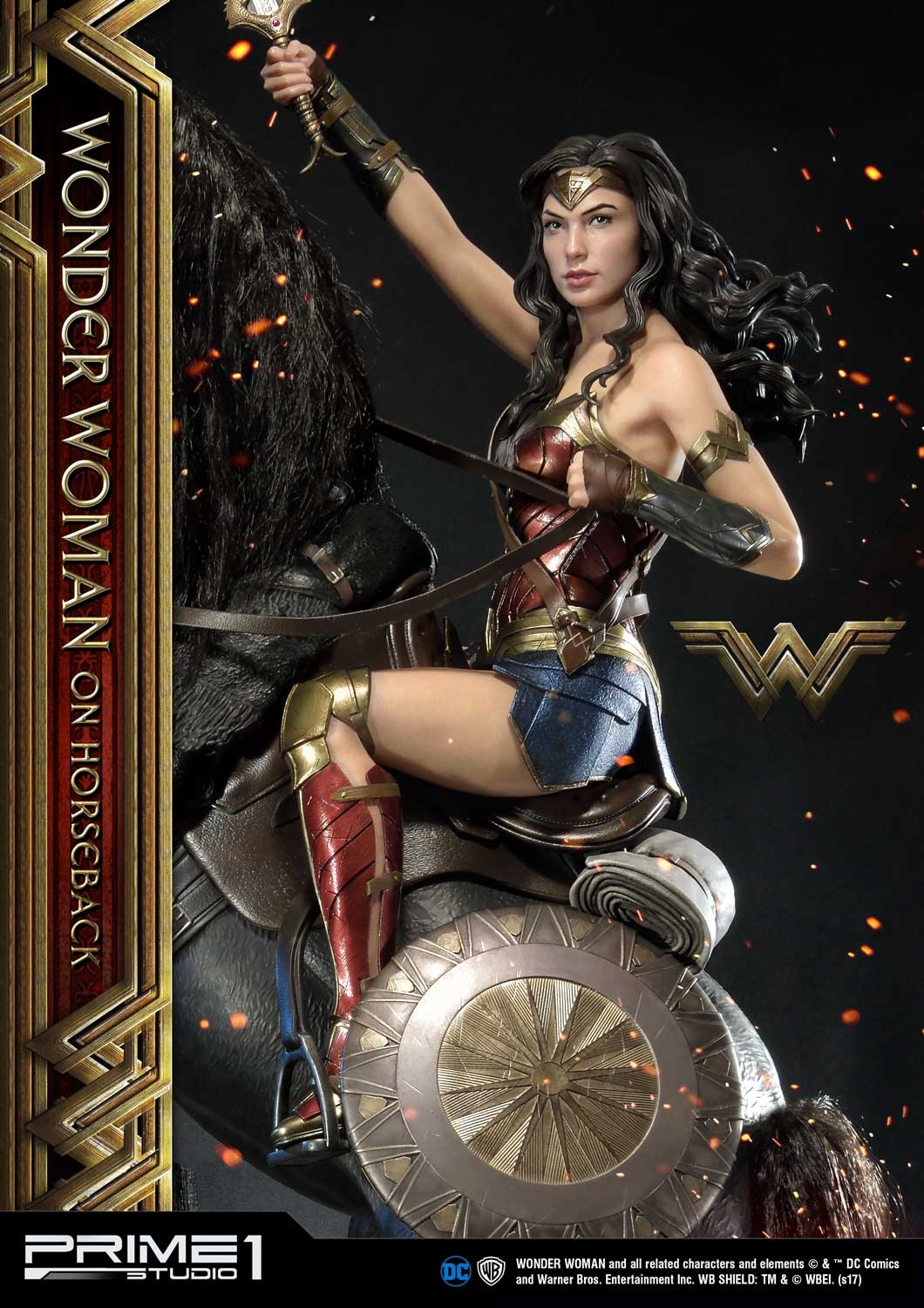 DC Comics - Wonder Woman Movie : Wonder Woman On Horseback 1/3 Scale Museum Masterline statue Mmww-02_a01
