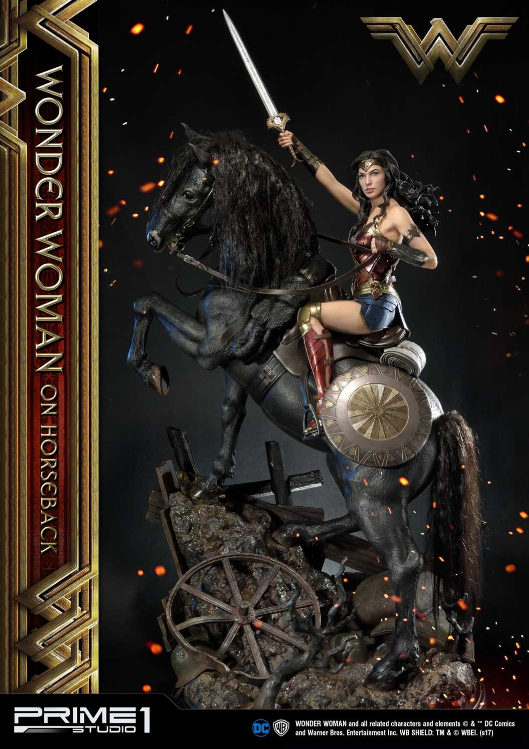 DC Comics - Wonder Woman Movie : Wonder Woman On Horseback 1/3 Scale Museum Masterline statue Mmww-02_a02