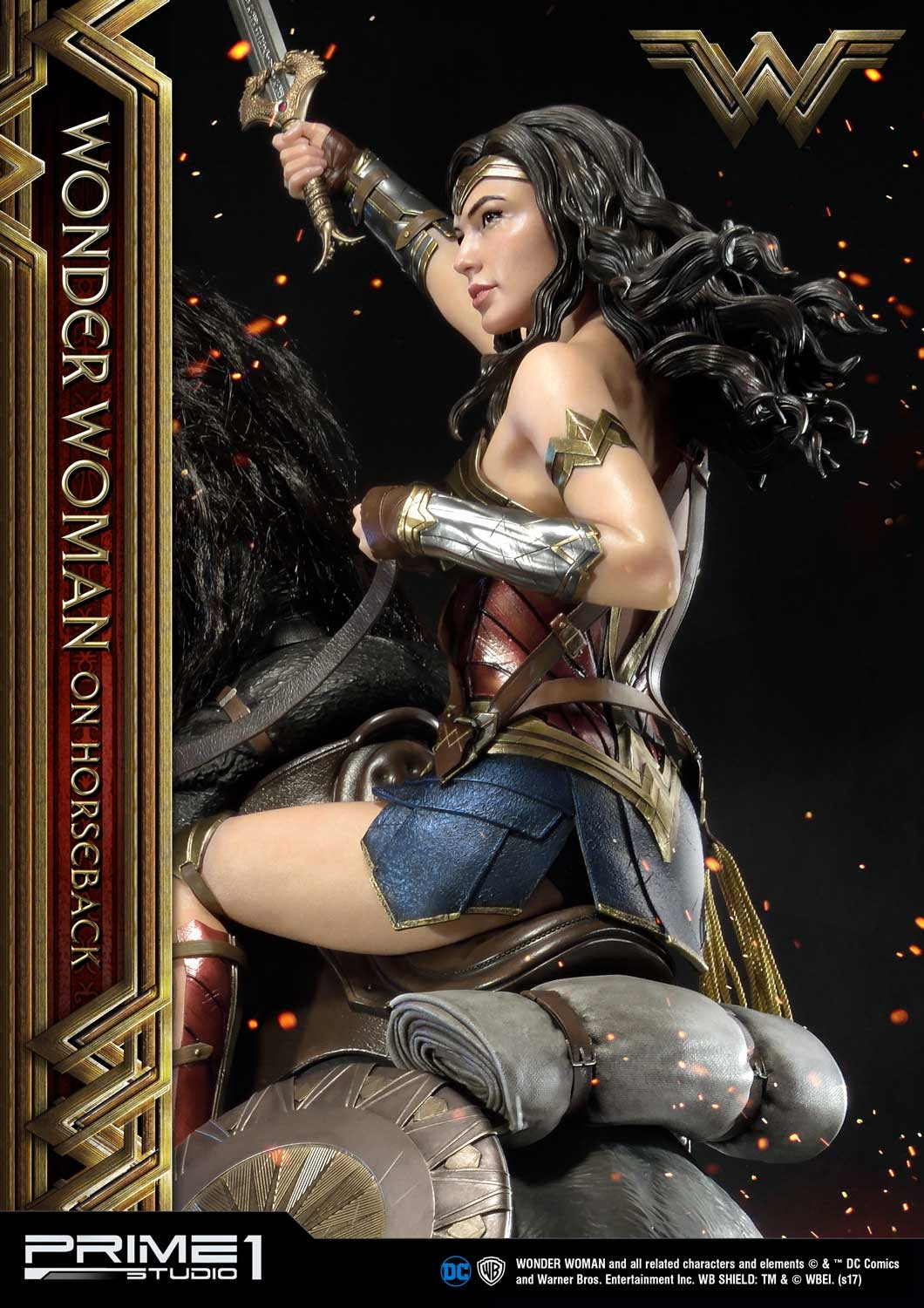 DC Comics - Wonder Woman Movie : Wonder Woman On Horseback 1/3 Scale Museum Masterline statue Mmww-02_a05