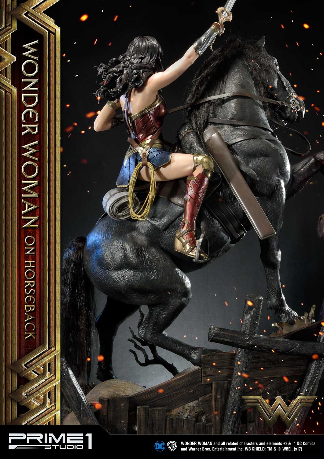 DC Comics - Wonder Woman Movie : Wonder Woman On Horseback 1/3 Scale Museum Masterline statue Mmww-02_a08
