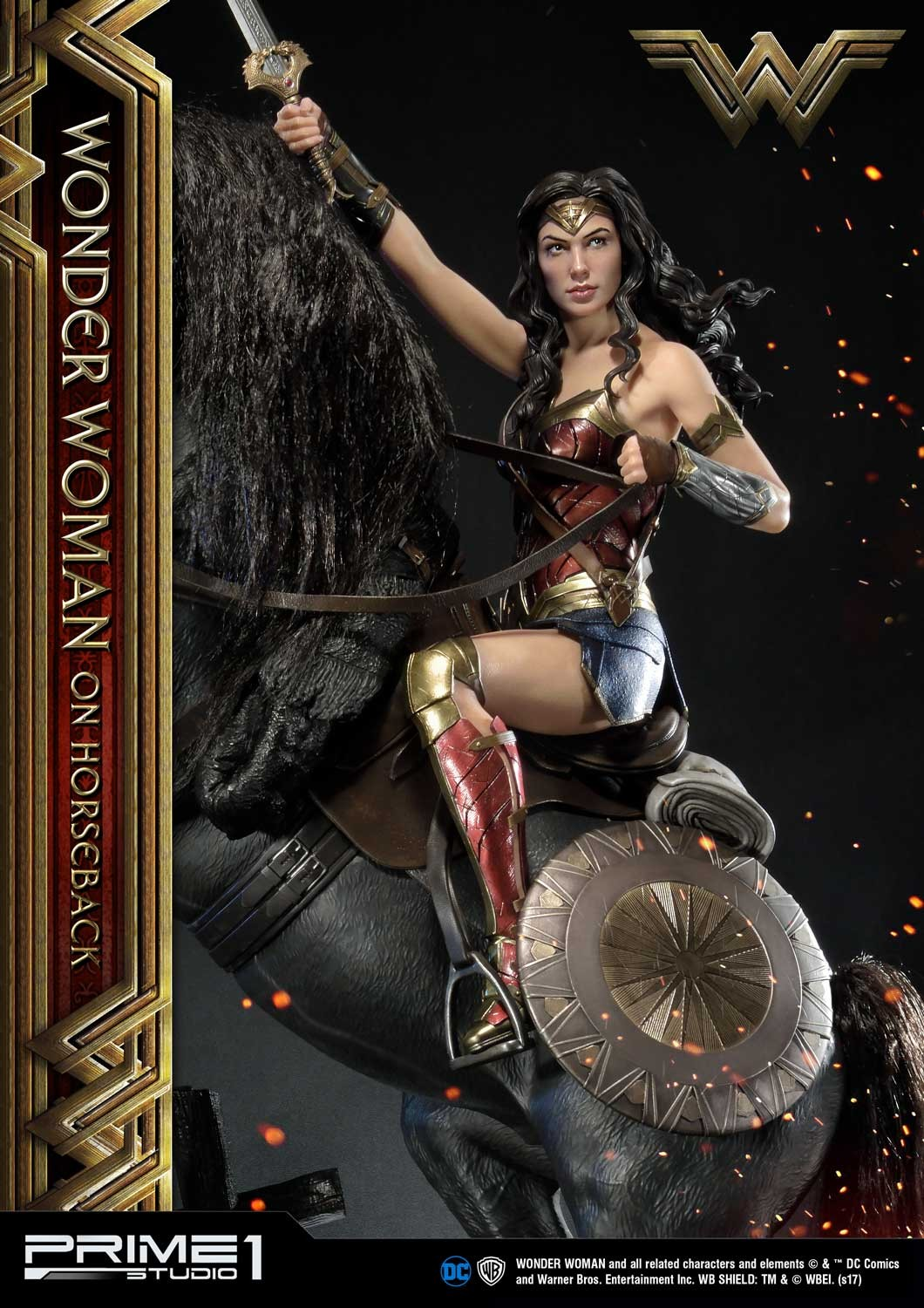 DC Comics - Wonder Woman Movie : Wonder Woman On Horseback 1/3 Scale Museum Masterline statue Mmww-02_b01
