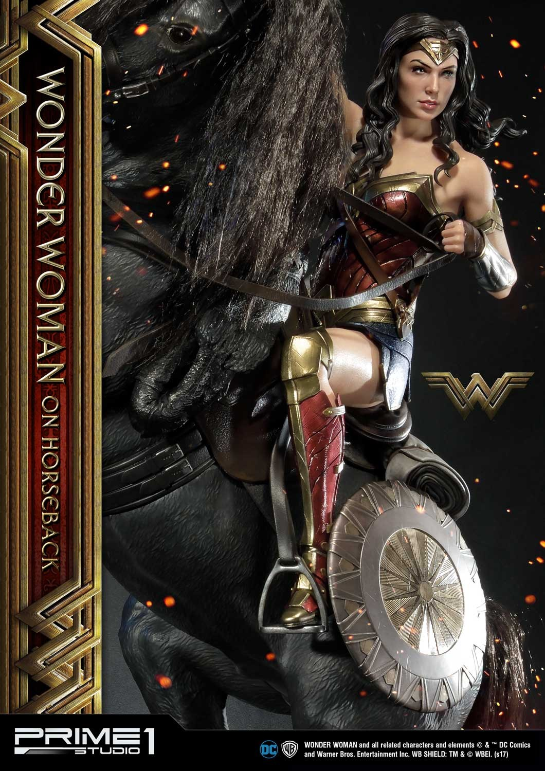 DC Comics - Wonder Woman Movie : Wonder Woman On Horseback 1/3 Scale Museum Masterline statue Mmww-02_b03