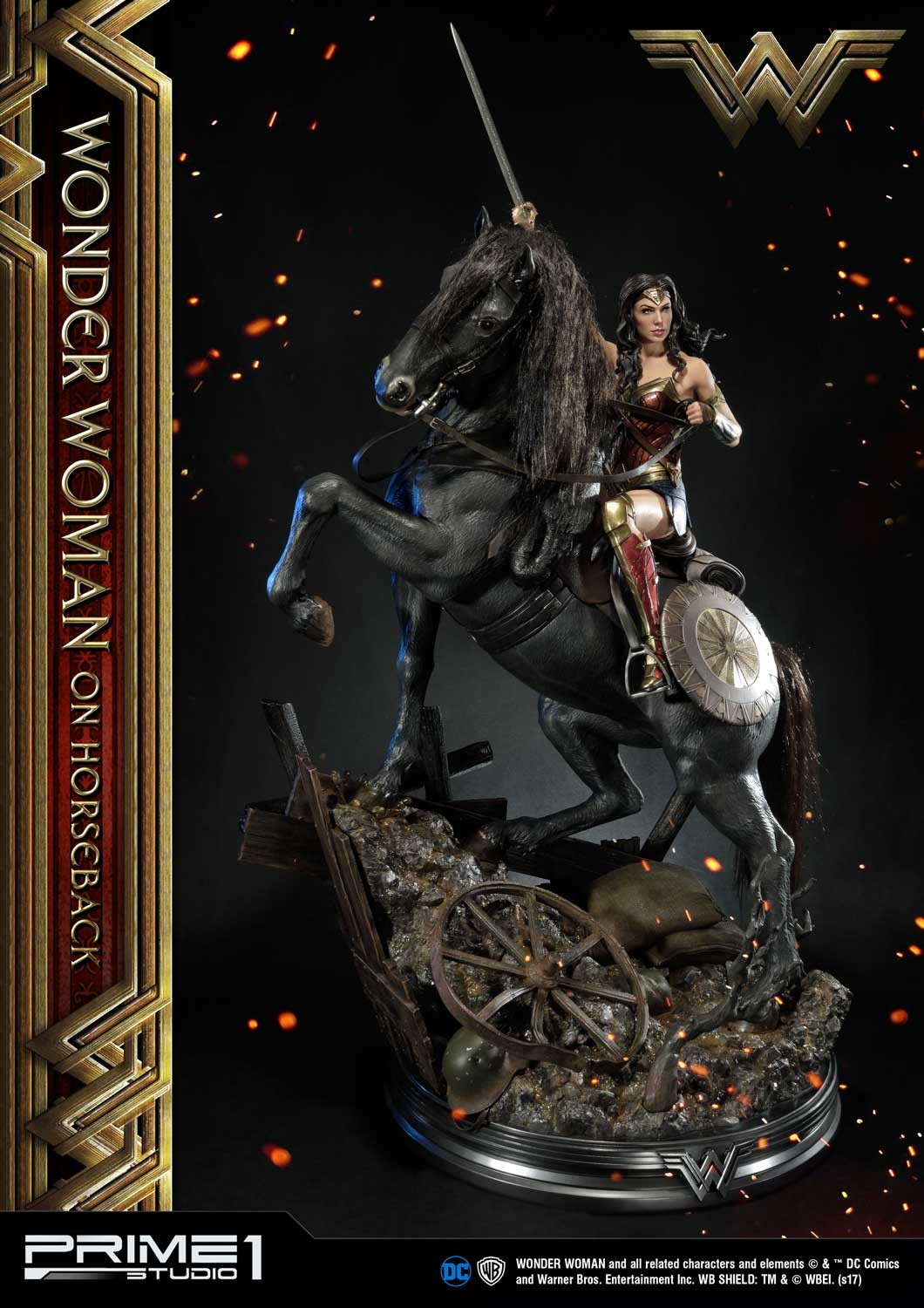 DC Comics - Wonder Woman Movie : Wonder Woman On Horseback 1/3 Scale Museum Masterline statue Mmww-02_b04