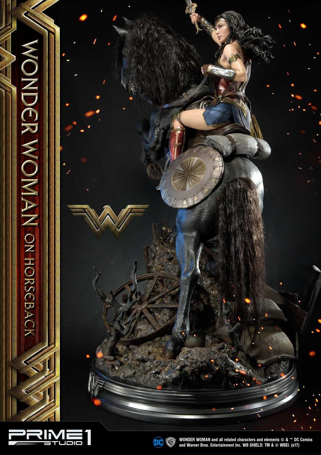 DC Comics - Wonder Woman Movie : Wonder Woman On Horseback 1/3 Scale Museum Masterline statue Mmww-02_b06