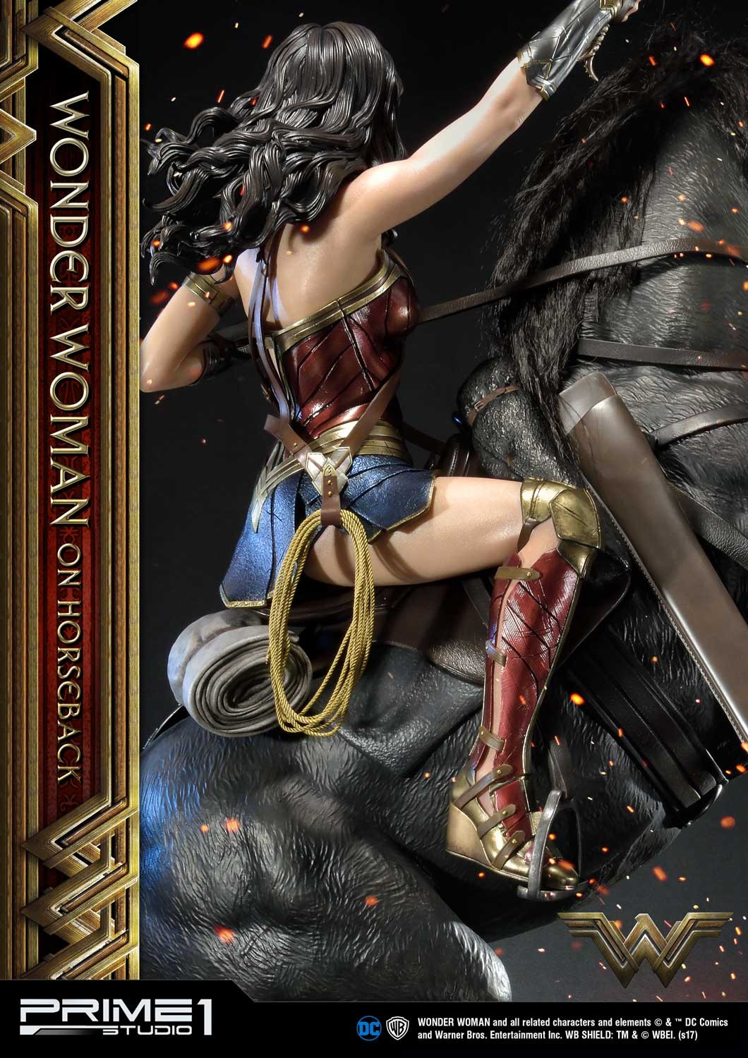 DC Comics - Wonder Woman Movie : Wonder Woman On Horseback 1/3 Scale Museum Masterline statue Mmww-02_b07