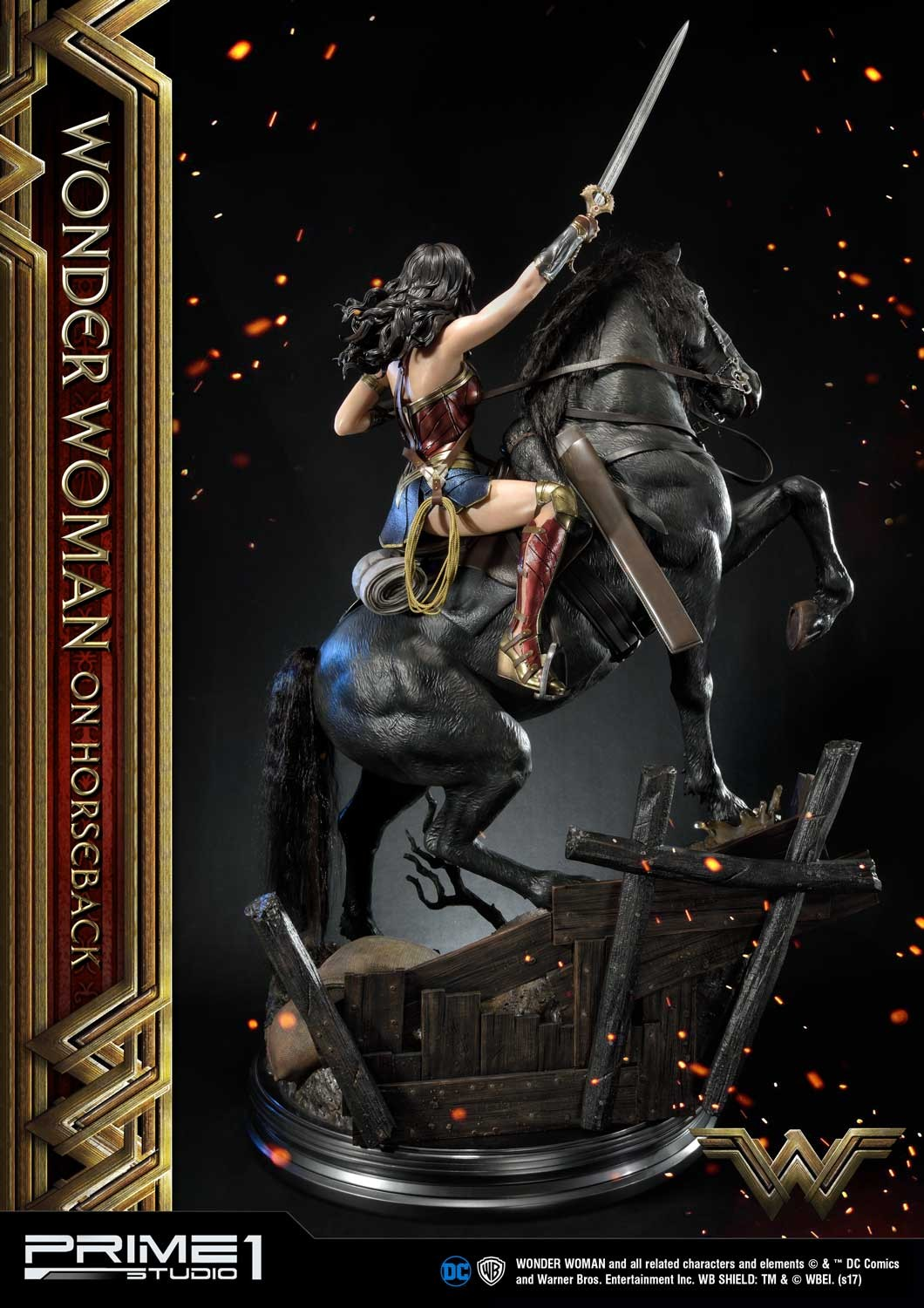 DC Comics - Wonder Woman Movie : Wonder Woman On Horseback 1/3 Scale Museum Masterline statue Mmww-02_b08