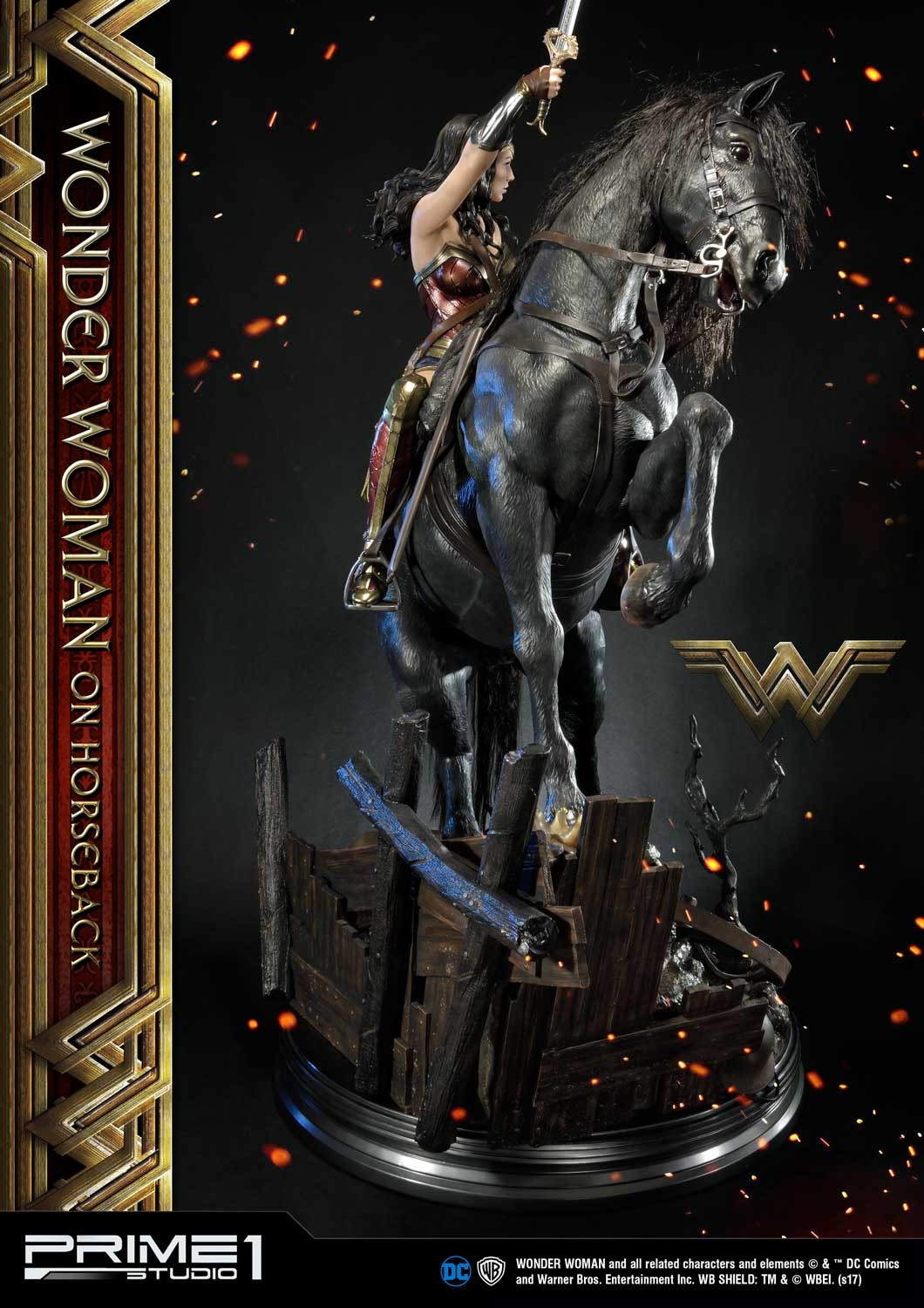 DC Comics - Wonder Woman Movie : Wonder Woman On Horseback 1/3 Scale Museum Masterline statue Mmww-02_b10