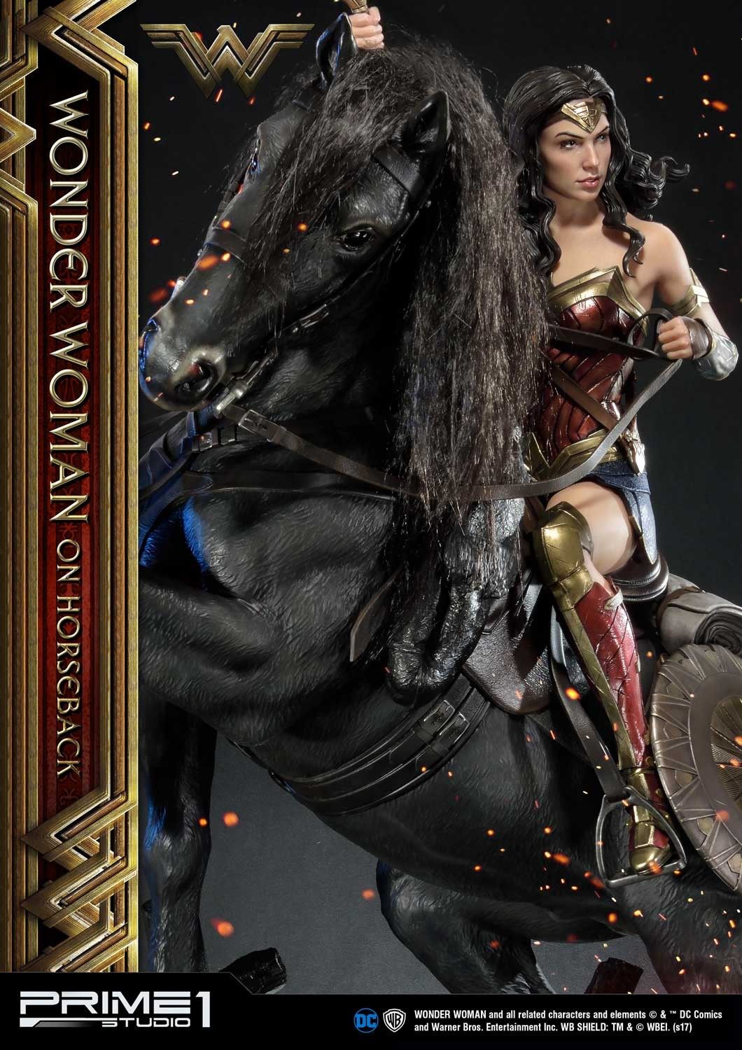 DC Comics - Wonder Woman Movie : Wonder Woman On Horseback 1/3 Scale Museum Masterline statue Mmww-02_b11
