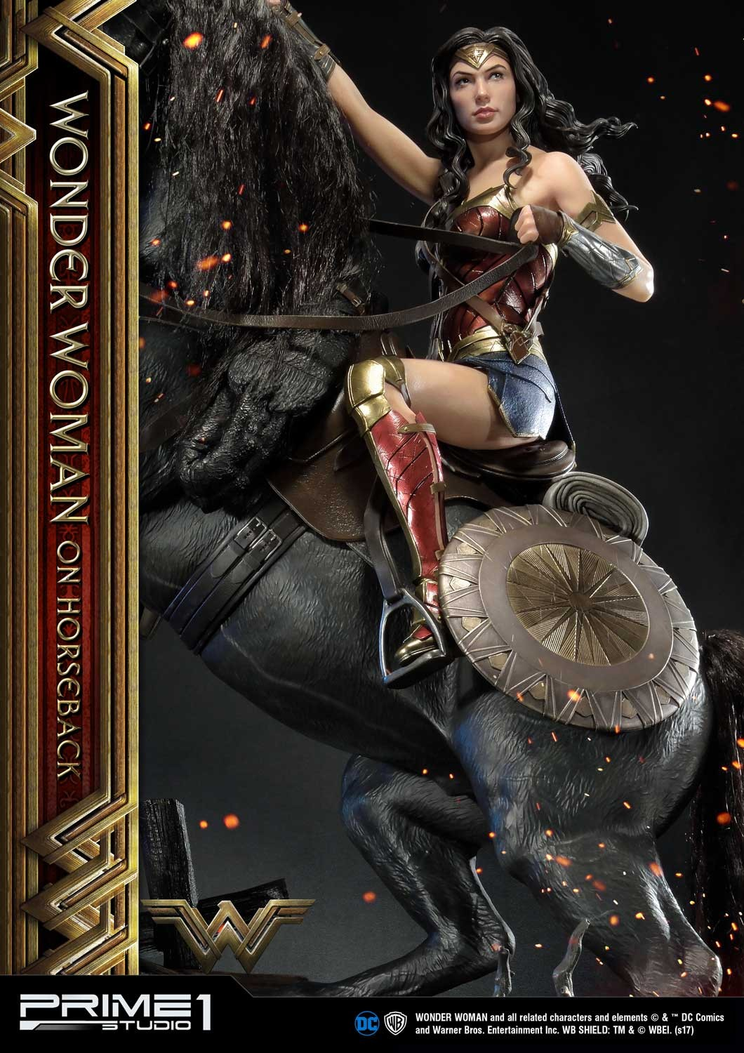 DC Comics - Wonder Woman Movie : Wonder Woman On Horseback 1/3 Scale Museum Masterline statue Mmww-02_b14