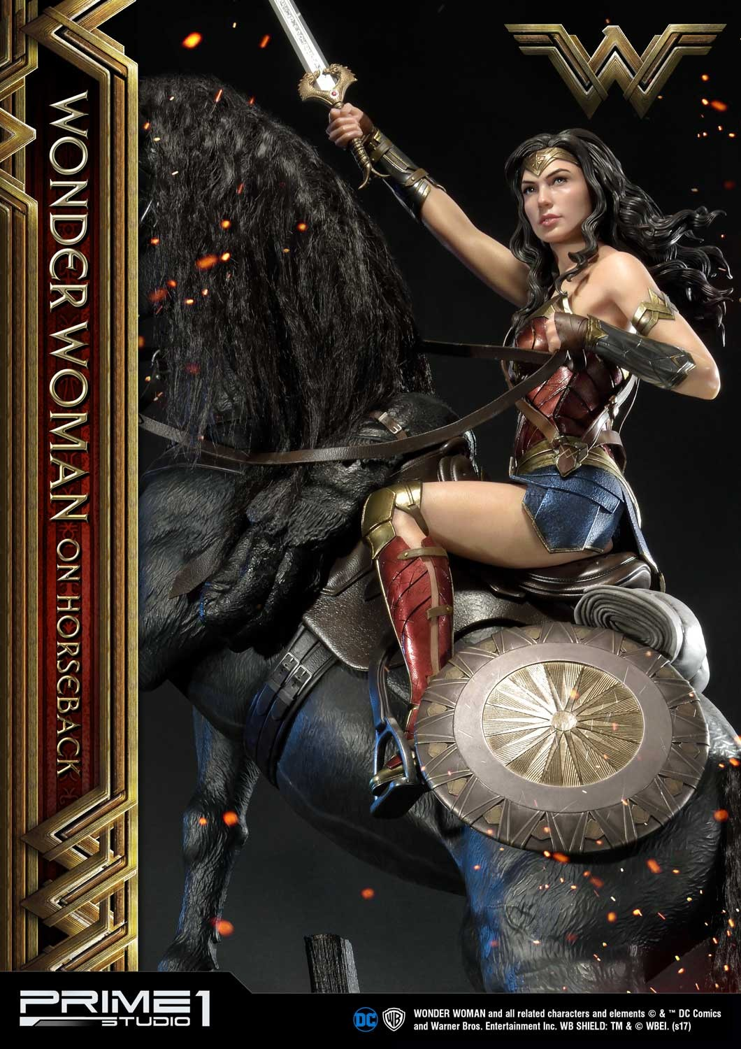 DC Comics - Wonder Woman Movie : Wonder Woman On Horseback 1/3 Scale Museum Masterline statue Mmww-02_b16