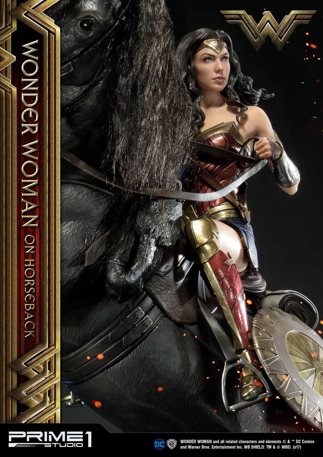 DC Comics - Wonder Woman Movie : Wonder Woman On Horseback 1/3 Scale Museum Masterline statue Mmww-02_b18