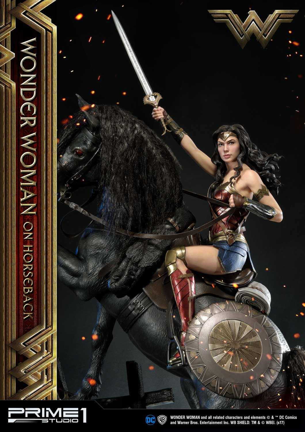 DC Comics - Wonder Woman Movie : Wonder Woman On Horseback 1/3 Scale Museum Masterline statue Mmww-02_b20