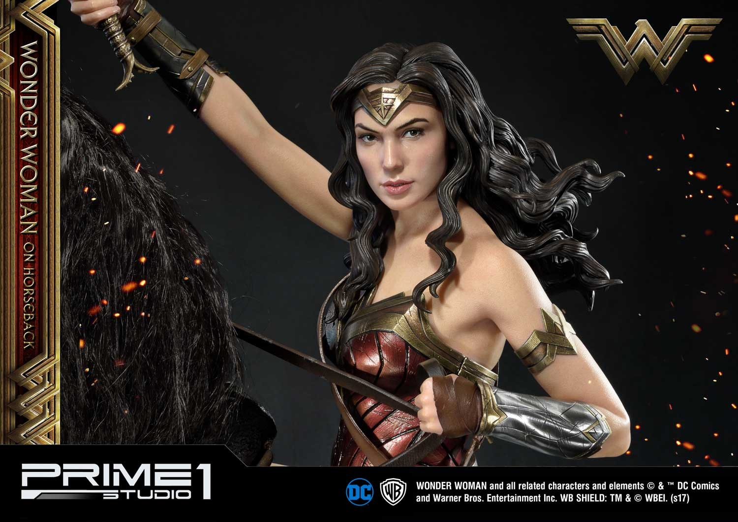 DC Comics - Wonder Woman Movie : Wonder Woman On Horseback 1/3 Scale Museum Masterline statue Mmww-02_b24
