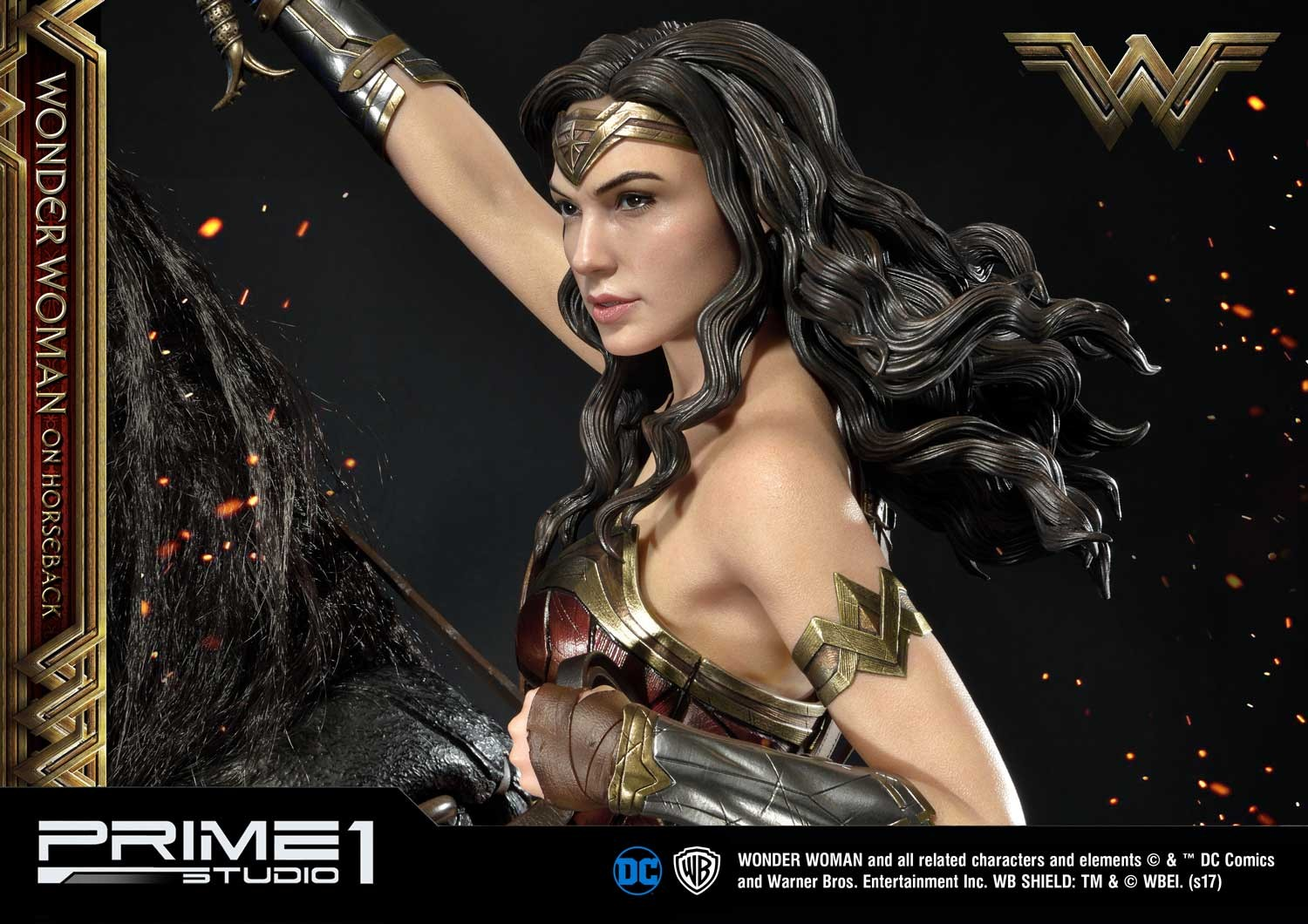DC Comics - Wonder Woman Movie : Wonder Woman On Horseback 1/3 Scale Museum Masterline statue Mmww-02_b26